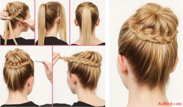 How to hair bun for short and long hair